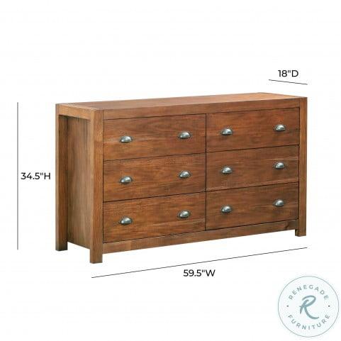 Asheville Acorn Wooden Dresser