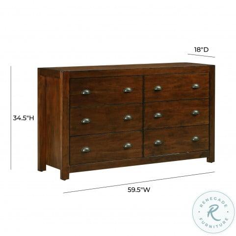 Asheville Vintage Umber Wooden Dresser