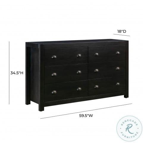Asheville Black Wooden Dresser