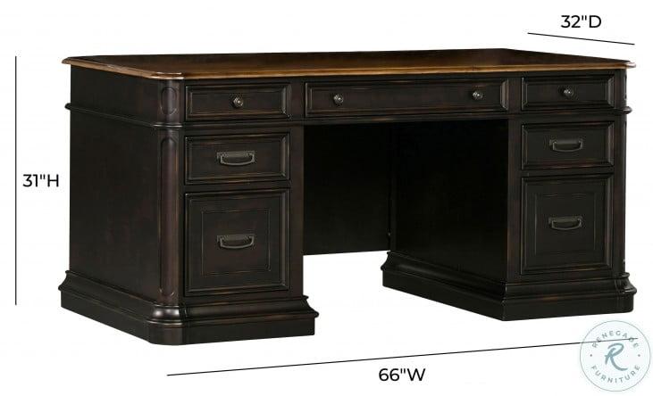 Roanoke Black Desk