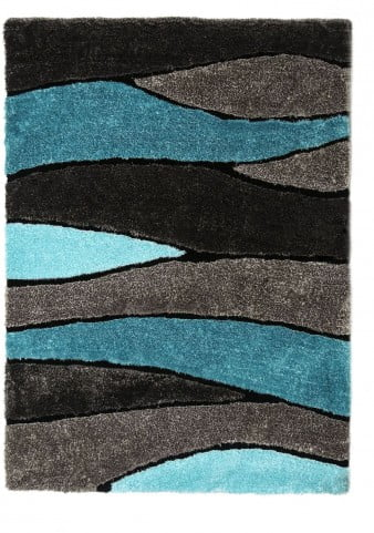 Winnipeg Gray and Blue Rug