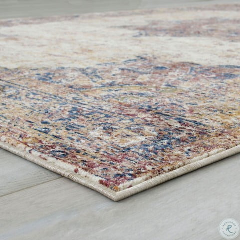 Payas Beige and Brown Area Rug