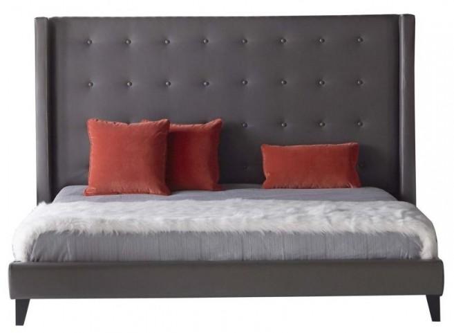 Basix Rialto Pebble Bonded Leather King Platform Bed