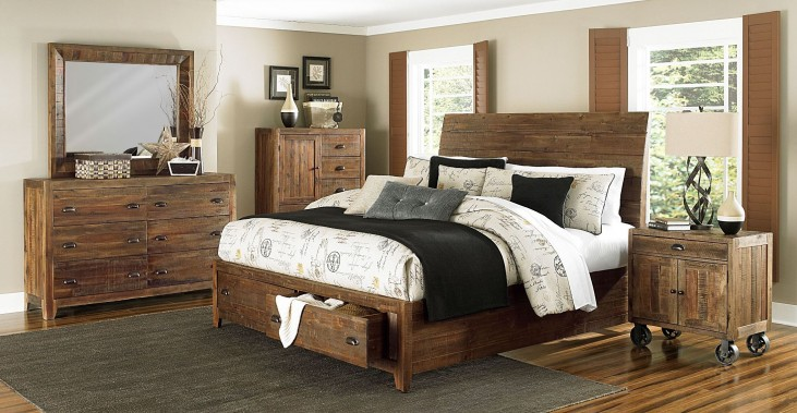 River Ridge Island Storage Bedroom Set