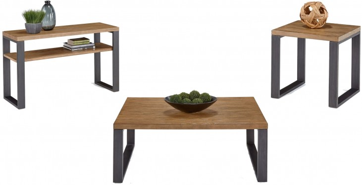 Riverwind Black & Ash Occasional Table Set