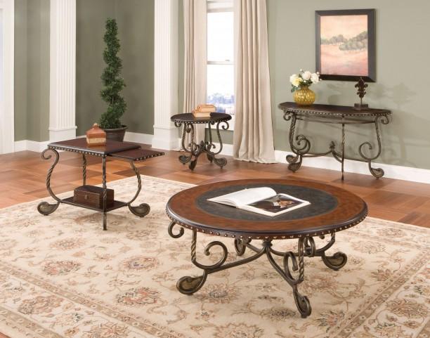 Rosemont Medium Cherry Occasional Table Set