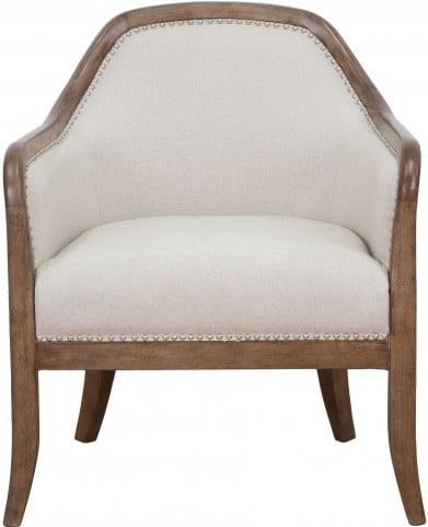 Quilted Beige Accent Chair