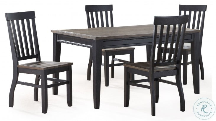 Raven Ebony And Driftwood Noir Dining Table