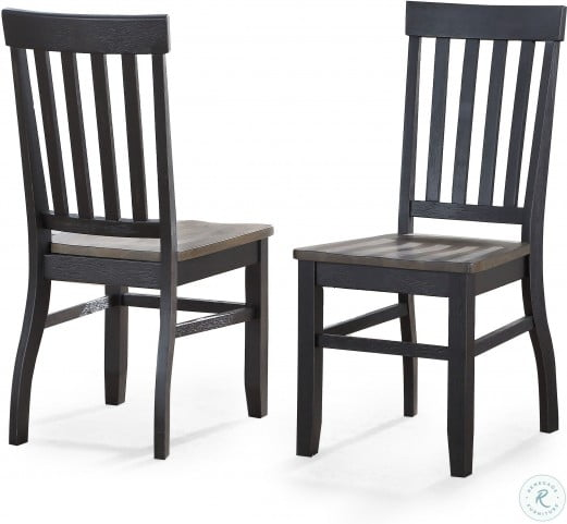 Raven Ebony And Driftwood Noir Side Chair Set Of 2