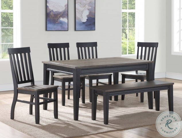 Raven Ebony And Driftwood Noir Dining Room Set