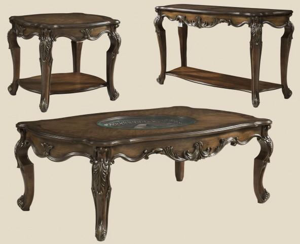 Rochelle Chestnut Rectangular Occasional Table Set