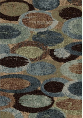 Orian Rugs Plush Circles Pulpit Blue Area Large Rug