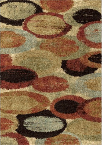 Orian Rugs Plush Circles/Rings Pulpit Multi Area Large Rug