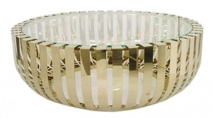 Roza Glass Top Champagne Coffee Table
