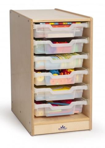Clear Tray Single Storage Cabinet