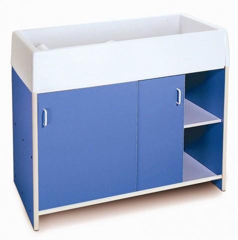 EZ Clean Blue Infant Changing Cabinet