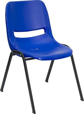 Hercules Blue Ergonomic Shell Stack Chair