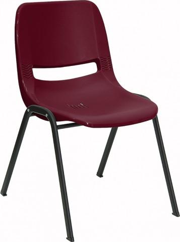 Hercules Burgundy Ergonomic Shell Stack Chair