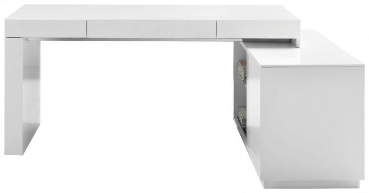 S005 White High Gloss Modern Office Desk