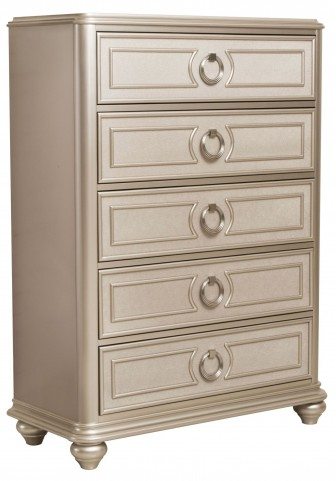 Dynasty Gold Metallic Drawer Chest