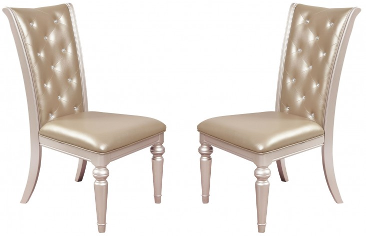 Dynasty Gold Metallic Side Chair Set of 2