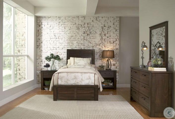 Ruff Hewn Brown Youth Panel Bedroom Set
