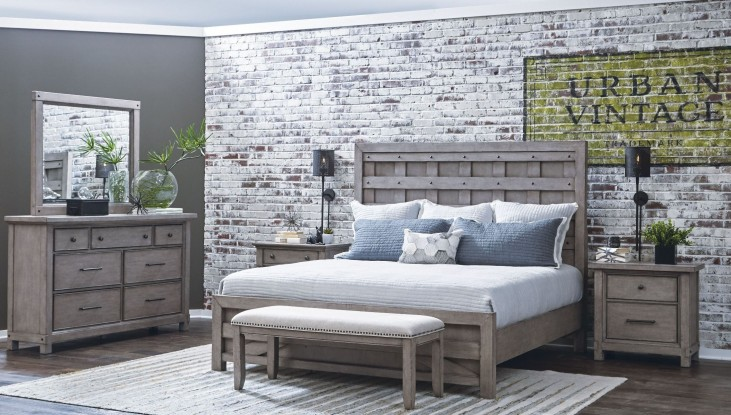 Prospect Hill Gray Pallet Panel Bedroom Set
