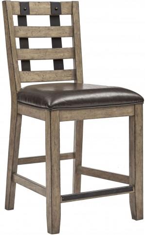 Flatbush Brown Metal Strap Gathering Chair Set of 2