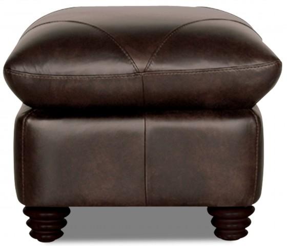 Solomon Italian Leather Ottoman