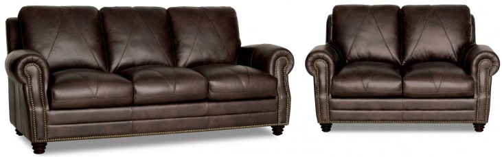 Solomon Italian Leather Living Room