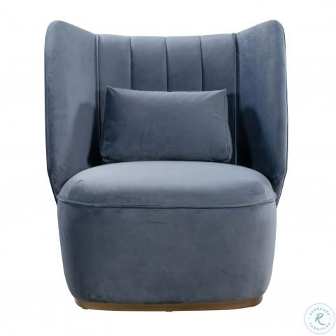 Reiko Cascadia Blue Lounge Chair
