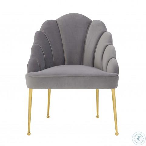 Daisy Petite Grey Velvet Chair