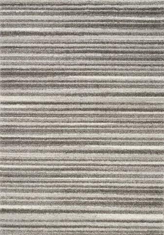 Sable Grey and White Thin Stripes Medium Rug