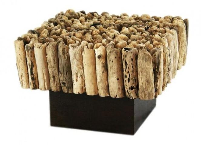 Safari Natural Driftwood End Table