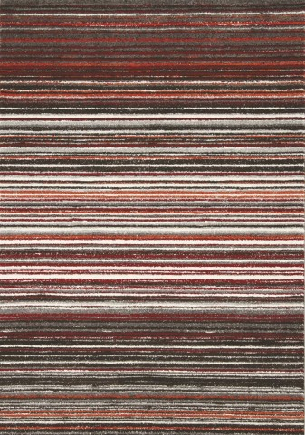 """Safi Grey Red Cords 94"""" Rug"""
