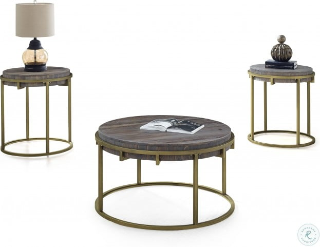 Samuel Light Mocha Round End Table