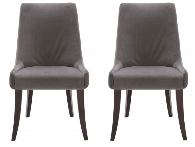 San Diego Dining Chair In Grey Set of 2
