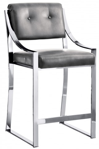 Savoy Counter Stool In Grey Nobility