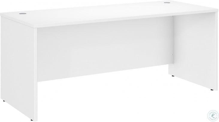 "Studio C Storm White 72"" Office Desk"