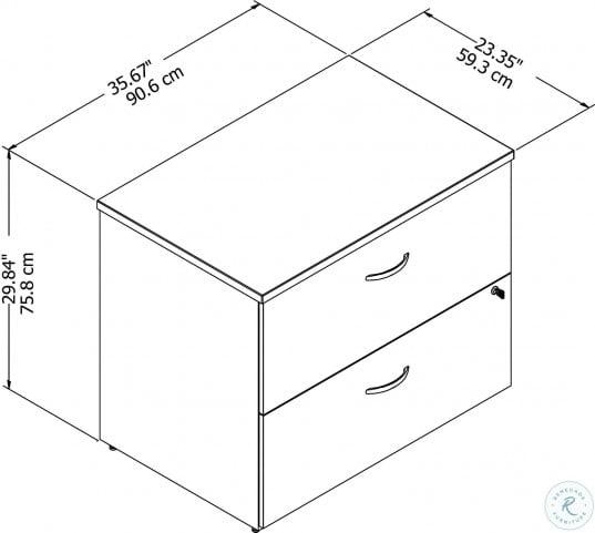 Studio C White Lateral File Cabinet