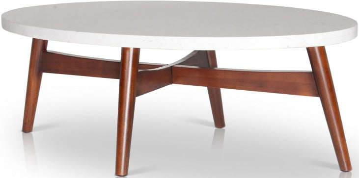Serena White and Brown Cocktail Table