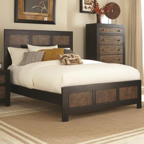 Segundo Antique Oak King Panel Bed