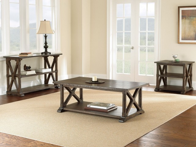 Southfield Weathered Pine Occasional Table Set
