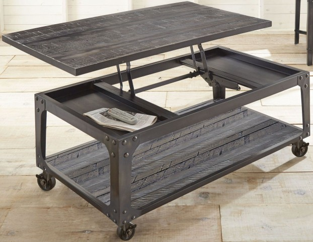 Sherlock Tobacco Lift Top Castered Cocktail Table