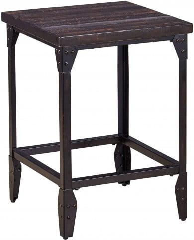 Sherlock Antique Dark Charcoal Backless Counter Stool Set of 2