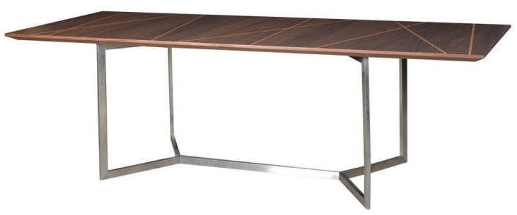 Shadow Brushed Stainless Steel Rectangular Dining Table