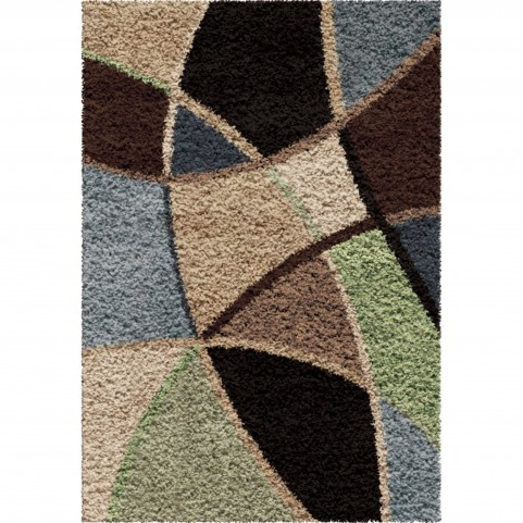 1729 5x8 Abstract Duchess Blue Medium Rug 1729 5x8