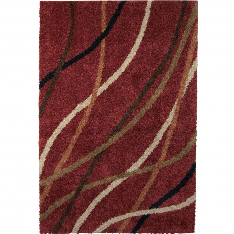 Gentle Breeze Red Medium Rug