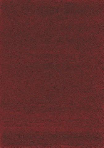Red Shaggy Solid Medium Rug