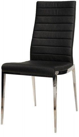 Ritz Graphite Leather Shine Dining Chair Set of 2
